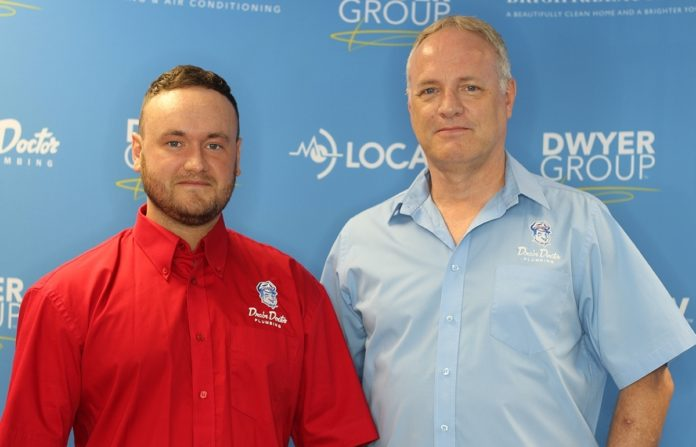 Myles left and Steve right Lawless team up to launch new Drain Doctor franchise for Stoke on Trent and Stafford