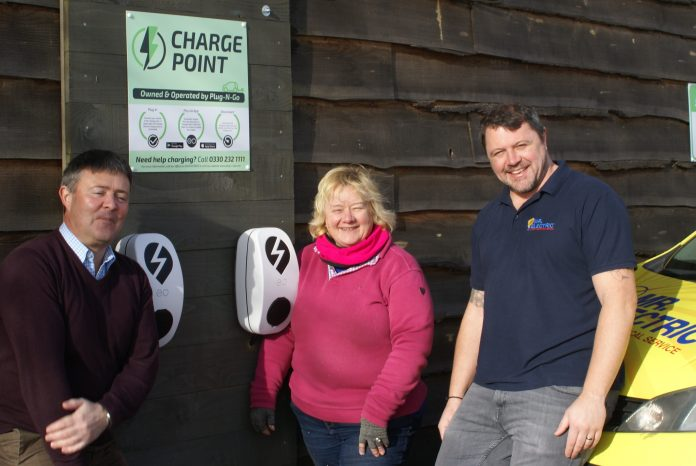 Keith Hounsell Plug N Go Yvonne Viggers Buzzards Valley and Dominic Longley Mr Electric